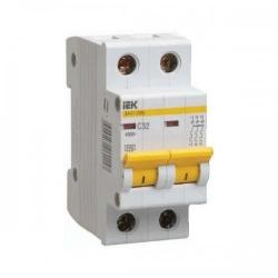 Выключатель автоматический IEK 2Р, 10А, хар.С