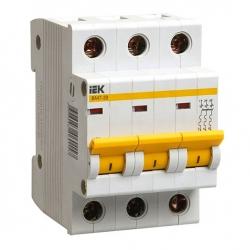 Выключатель автоматический IEK 3Р, 6А, хар.С