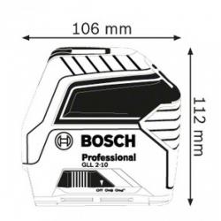 Лазерный уровень BOSCH GLL 2-10