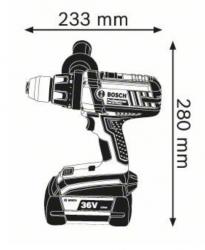 Дрель-шуруповерт BOSCH GSB 36 VE-2-LI L-BOXX Professional