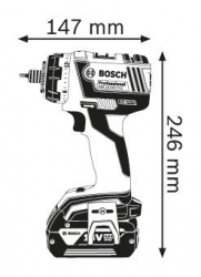 Дрель-шуруповерт BOSCH GSR 18 V-EC FC2 L-BOXX Professional (06019E1100)