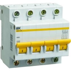 Выключатель автоматический IEK 4Р, 6А, хар.С